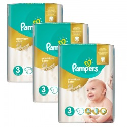 Maxi Giga Pack 180 Couches Pampers Premium Care - Prima taille 3