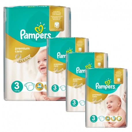 Maxi Giga Pack 240 Couches Pampers Premium Care - Prima taille 3 sur Couches Zone