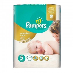 Pack 26 Couches Pampers Premium Care - Prima taille 5 sur Couches Zone