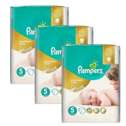 Maxi Pack 208 Couches Pampers Premium Care - Prima taille 5 sur Couches Zone