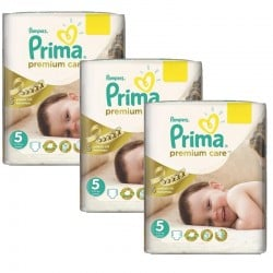 Maxi Giga Pack 378 Couches Pampers Premium Care - Prima taille 5 sur Couches Zone