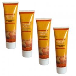 Lot de 4 Crèmes gommage visage aux Noyaux d'abricots & Amandes 150 ml sur Couches Zone