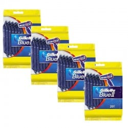 Lot de 4 Packs Gillette BlueII Rasoirs Jetables 20 pc. sur Couches Zone