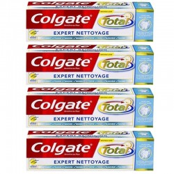 Lot 4 Dentifrices Colgate Total Expert Nettoyage