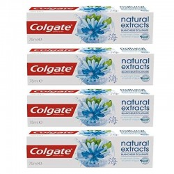 Lot 4 Dentifrices Colgate Natural Extracts Blancheur Eclatante sur Couches Zone