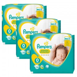 Giga Pack 72 Couches Pampers New Baby Premium Protection taille 0 sur Couches Zone