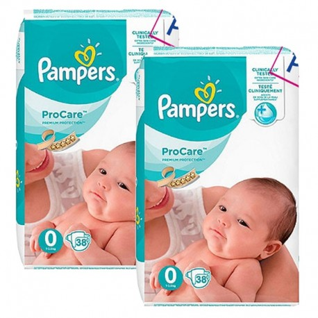 Maxi Giga Pack 76 Couches Pampers ProCare Premium protection taille 0 sur Couches Zone