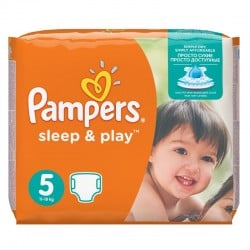 Pack 58 Couches Pampers Sleep & Play taille 5 sur Couches Zone