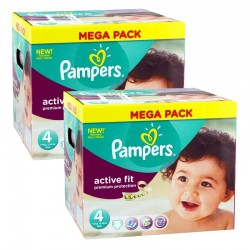 Giga Pack 840 Couches Pampers Active Fit Premium Protection taille 4 sur Couches Zone