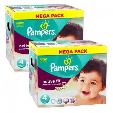 Giga Pack 840 Couches Pampers Active Fit - Premium Protection taille 4 sur Couches Zone