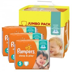 Giga Pack 348 Couches Pampers Sleep & Play taille 5 sur Couches Zone