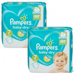 Mega Pack 115 Couches Pampers Baby Dry taille 7 sur Couches Zone
