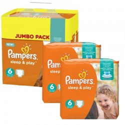 Maxi Pack 150 Couches Pampers Sleep & Play taille 6 sur Couches Zone