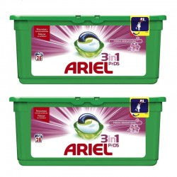 Lot de 2 Ariel Pods 28 Fresh Sensations 3in1 (795,2 gr) sur Couches Zone