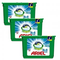 Lot de 3 Ariel Pods 16 Original 3in1 (454,4 gr) sur Couches Zone