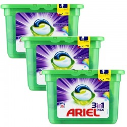 Lot de 3 Ariel Pods 16 Colour & Style 3in1 (432 gr) sur Couches Zone