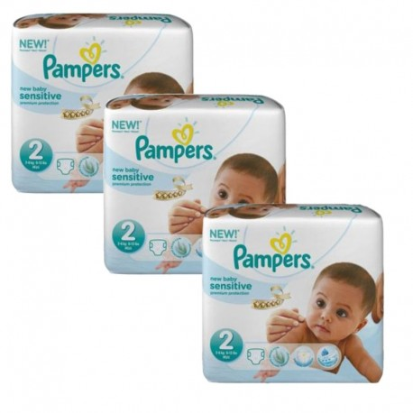 180 Couches Pampers New Baby Sensitive sur Couches Zone