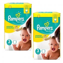 Pack 100 couches Pampers New Baby Premium Protection sur Couches Zone