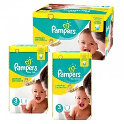 150 Couches Pampers premium protection taille 3 sur Couches Zone