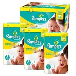 Mega Pack 300 couches Pampers New Baby Premium Protection sur Couches Zone