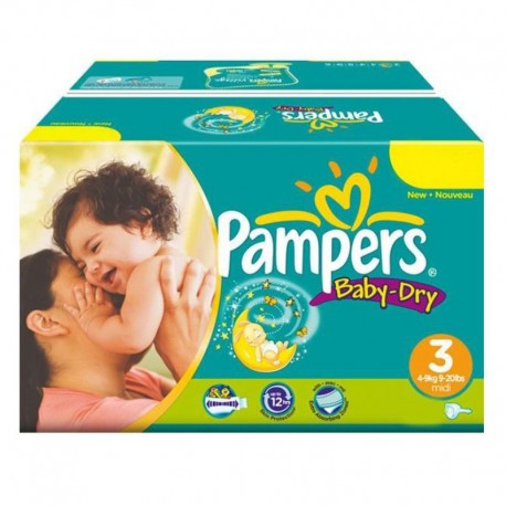Maxi Pack 374 Couches Pampers Baby Dry taille 3 sur Couches Zone