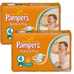 Maxi Pack 108 Couches Pampers Sleep & Play taille 4 sur Couches Zone