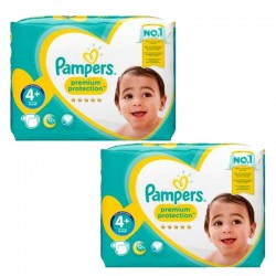 Giga Pack 124 Couches Pampers new baby - premium protection taille 4+ sur Couches Zone
