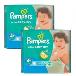 Mega Pack 108 Couches Pampers Active Baby Dry taille 4+ sur Couches Zone