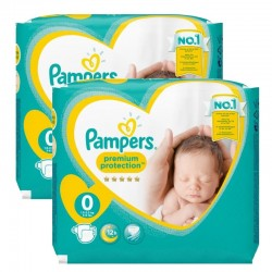 Pack 48 Couches Pampers New Baby Premium Protection taille 0 sur Couches Zone
