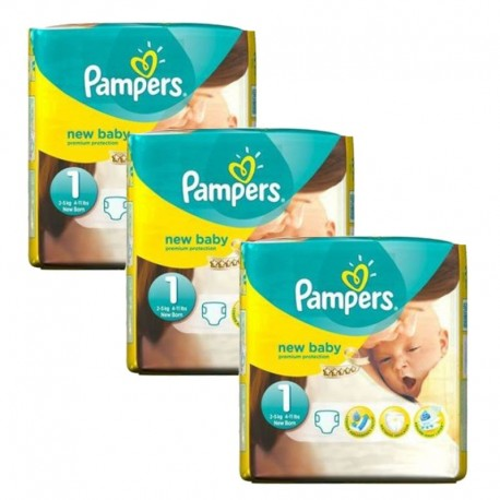Pack 69 Couches Pampers new baby - premium protection taille 1 sur Couches Zone