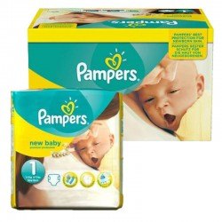 Maxi Giga pack 92 Couches Pampers new baby - premium protection taille 1