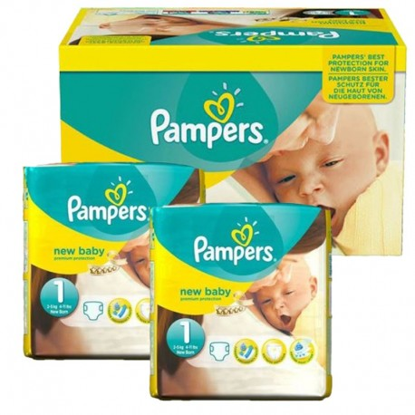 Mega Pack 138 Couches Pampers new baby - premium protection taille 1 sur Couches Zone