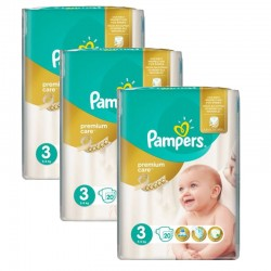 Giga Pack 60 Couches Pampers Premium Care - Prima taille 3 sur Couches Zone