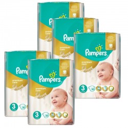 Maxi Pack 140 Couches Pampers Premium Care - Prima taille 3 sur Couches Zone