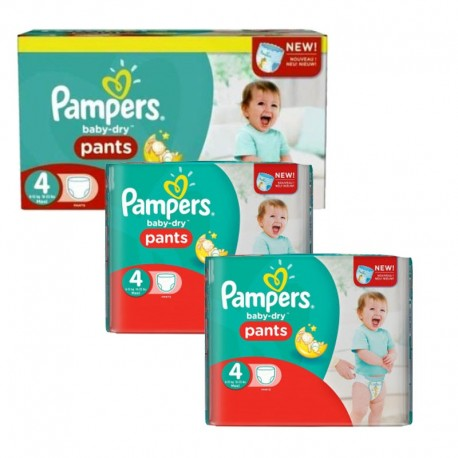 Giga Pack 188 Couches Pampers Baby Dry Pants taille 4 sur Couches Zone
