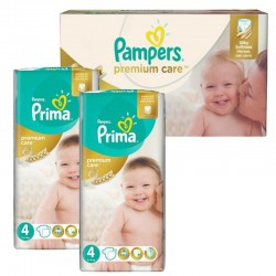 Mega Pack 120 Couches Pampers Premium Care - Prima taille 4 sur Couches Zone