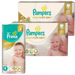 Maxi Pack 320 Couches Pampers Premium Care - Prima taille 4 sur Couches Zone