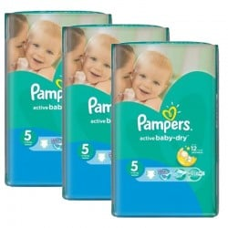 Mega Pack 264 Couches Pampers Active Baby Dry sur Couches Zone