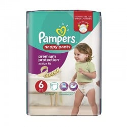 Pack 16 couches Pampers Active Fit Pants sur Couches Zone