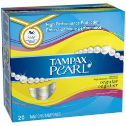 Pearl - Pack de 20 Tampons de Tampax taille regulier avec applicateur sur Couches Zone