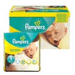 Pack 96 Couches Pampers New Baby Premium Protection taille 1 sur Couches Zone