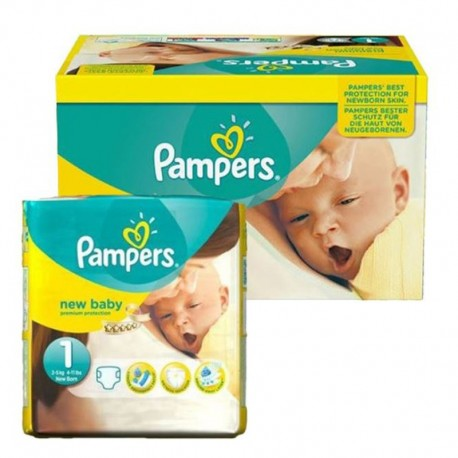 Pack 96 couches Pampers New Baby Premium Protection sur Couches Zone