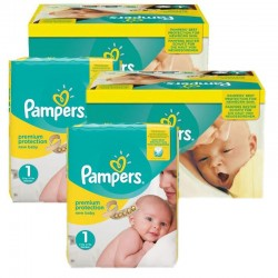 Maxi Pack 384 Couches Pampers New Baby Premium Protection taille 1