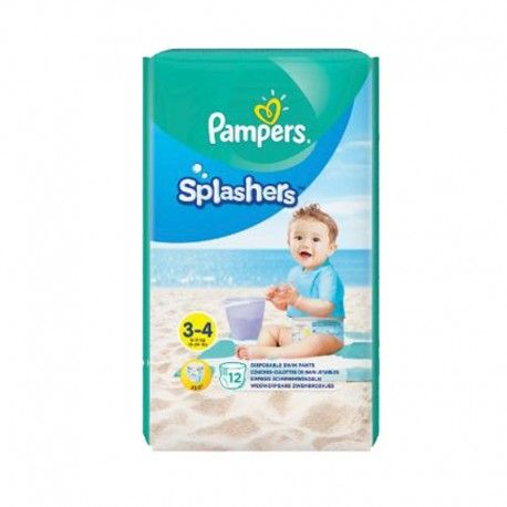 Pack 12 Couches de bains Pampers Splashers taille 3 sur Couches Zone