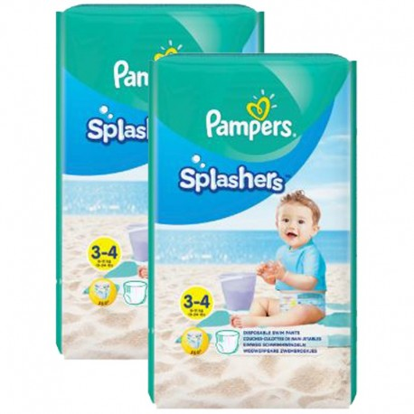 Maxi Pack 36 Couches de bains Pampers Splashers taille 3 sur Couches Zone