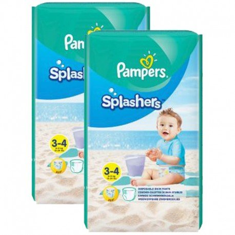 Giga Pack 36 Couches de Bain Pampers SPLASHERS sur Couches Zone