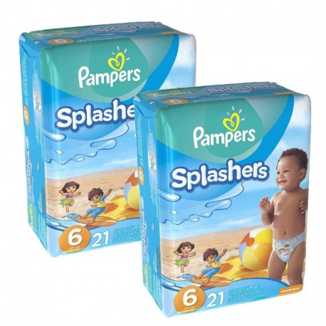 Pack 42 Couches Pampers Swimming Pants Splachers taille 6 sur Couches Zone