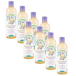 Pack de 8 Bains Moussant Bébé Bio à la Mandarine de Earth Friendly Baby - 370ml