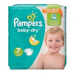 Pack 30 Couches Pampers Baby Dry taille 7 sur Couches Zone