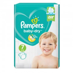 Pack 72 Couches Pampers Baby Dry taille 7 sur Couches Zone